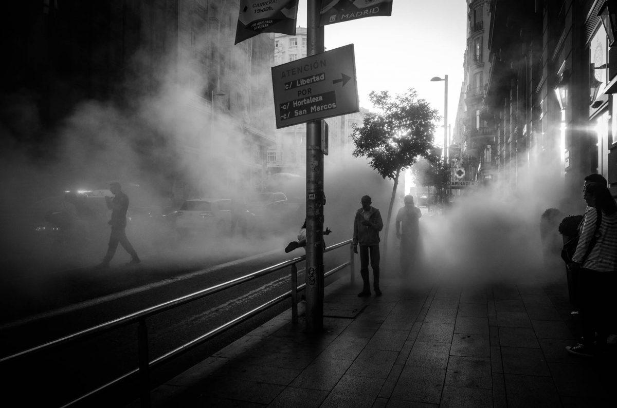 Street Madrid Fire